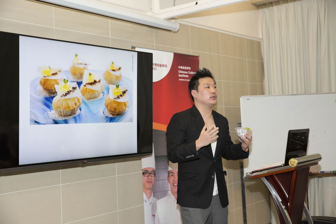 1 Star Michelin Chef Andrew Wong shared with CCI students